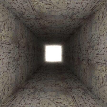 claustrophobia: square tunnel