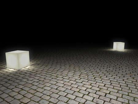 cobblestone: cobblestone floor Stock Photo