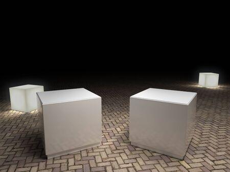 pedestal: empty pedestal Stock Photo