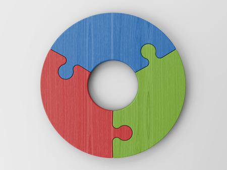 Puzzelstukken om je concepten te plaatsen Stockfoto