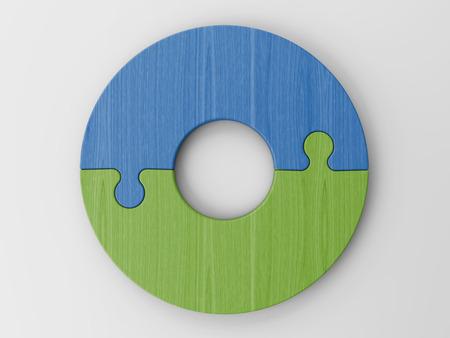 piezas de rompecabezas: rompecabezas piezas para colocar sus conceptos Foto de archivo