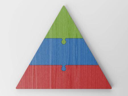 jerarqu�a: jerarqu�a piramidal Foto de archivo