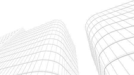 vanishing point: office building for use as background Stock Photo