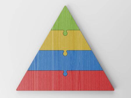 jerarquia: jerarquía piramidal Foto de archivo