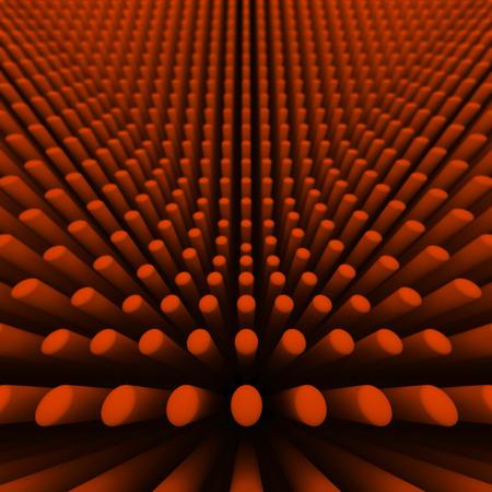 cylinders: background orange cylinders
