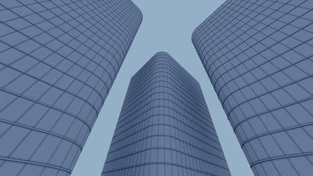 vanishing point: downtown corporate business Stock Photo