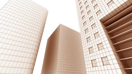 office building: illustration of office building Stock Photo