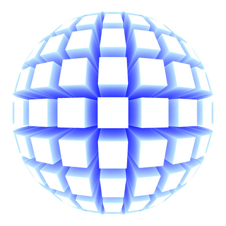 poke': sphere with square faces