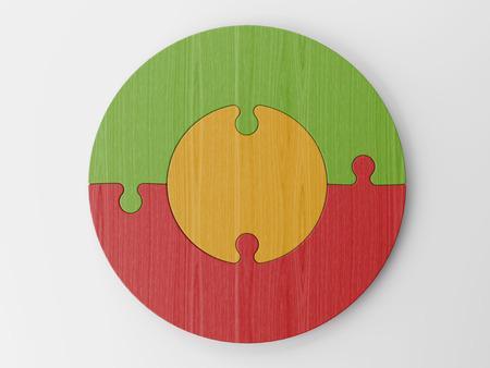 settle: colored puzzle pieces Stock Photo