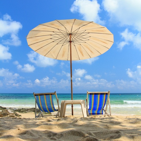 two chairs: two chairs umbrella beach relax time
