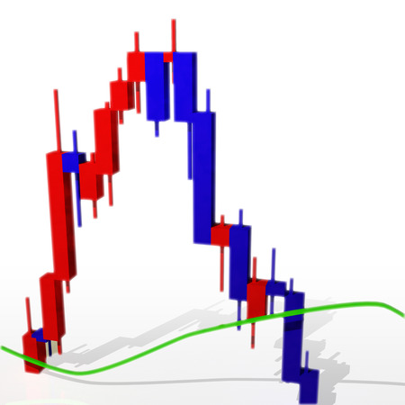 Stock price chart Stock Photo