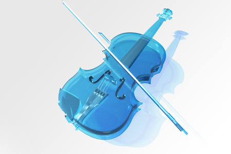 The violin of glass  Stock Photo