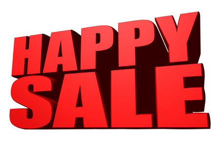 cheapness: Happy sale Stock Photo