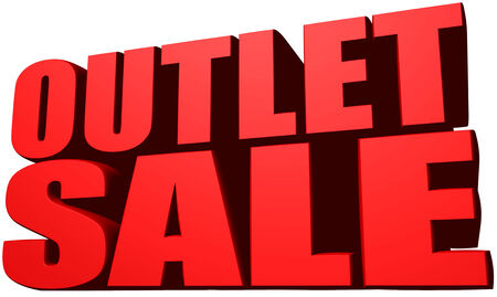 Outlet sale Stock Photo