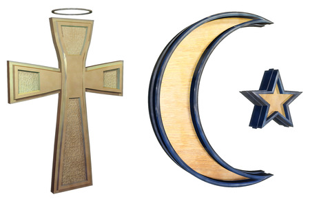 monotheism: Religion set Stock Photo