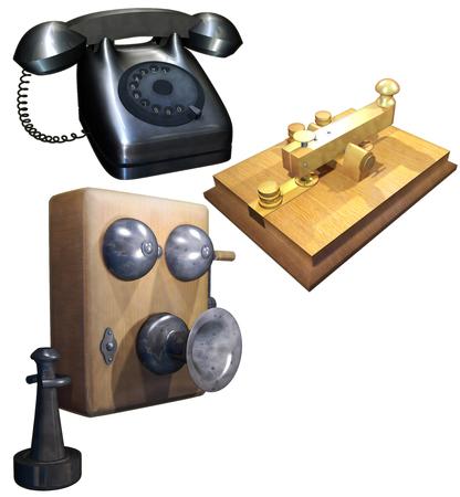 Ein Retro-Kommunikationsanlage eingestellt