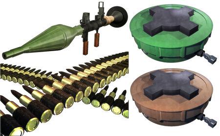 Weapons of destruction set Stock Photo - 24836139