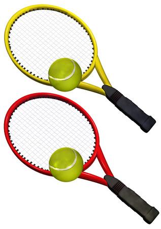 Tennis set racket