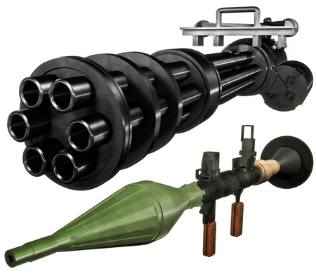 heavy set: Heavy weapons set Stock Photo