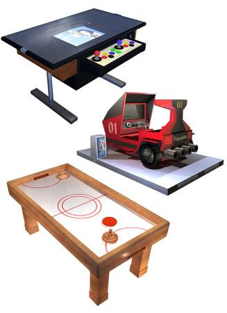 Arcade game set Stock Photo - 24946476