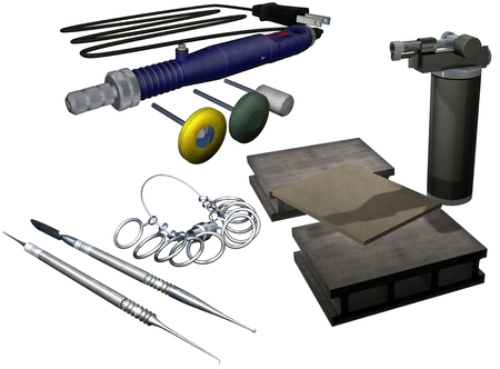 Silver accessories manufacture set