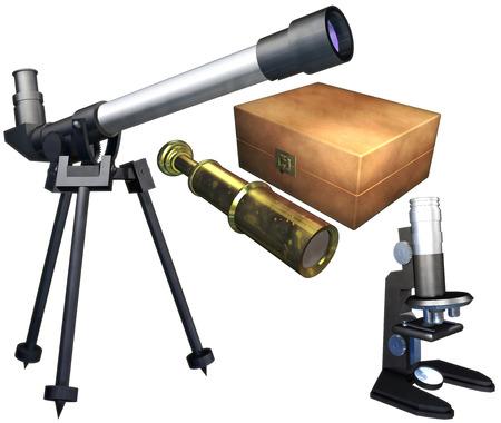 Telescope and Microscope set photo