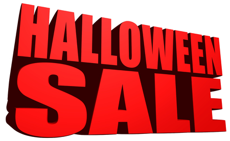 Halloween sale Stock Photo