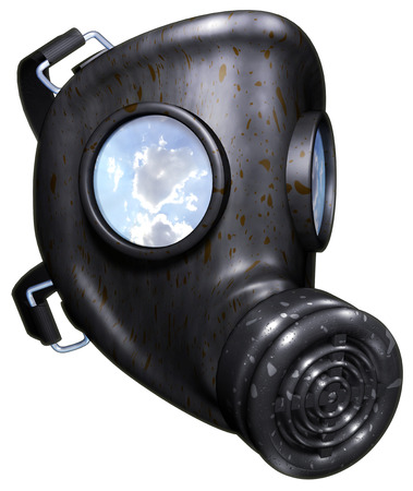 deadly poison: Gas mask Stock Photo