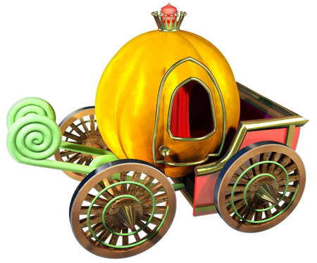 Carriage of pumpkin photo