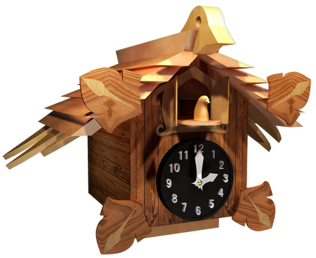 Cuckoo clock Stock Photo