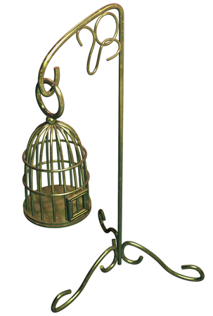 shop for animals: Birdcage Stock Photo
