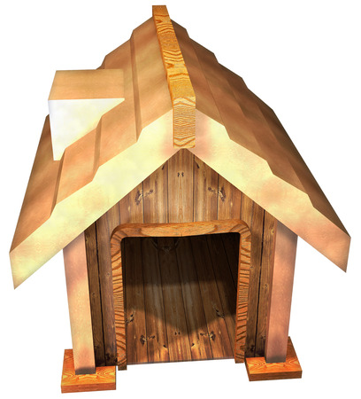 shop for animals: Doghouse Stock Photo