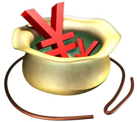 Yen 写真素材