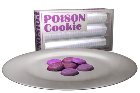 Poison Cookie  Stock Photo