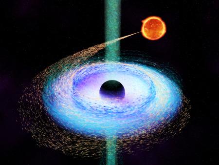 Black hole 写真素材