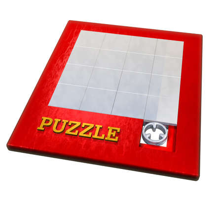 rearrangement: Puzzle Stock Photo