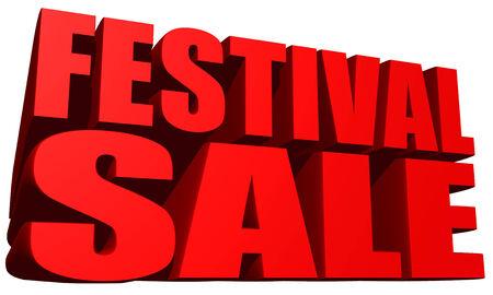 Festival sale 写真素材