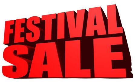 Festival sale Stock Photo