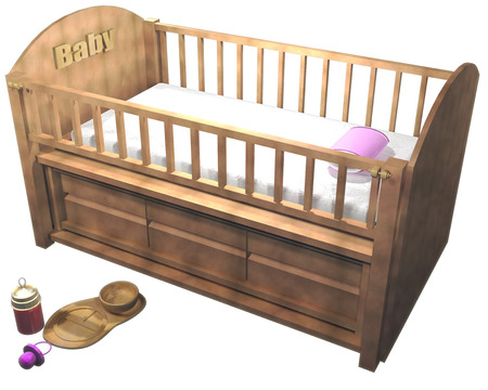 Crib Stock Photo