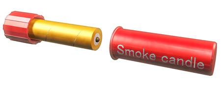 Smoke candle Stock Photo