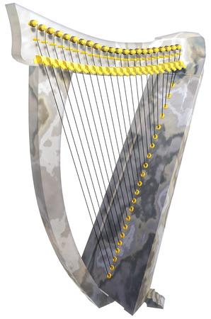 stringed: Harp Stock Photo
