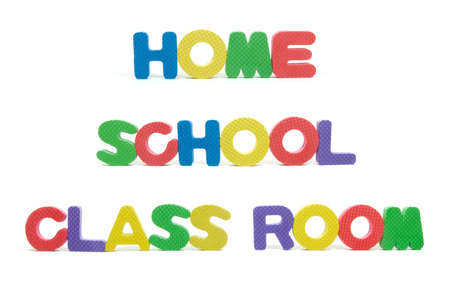 salle classe: Home School Lettres salle de classe