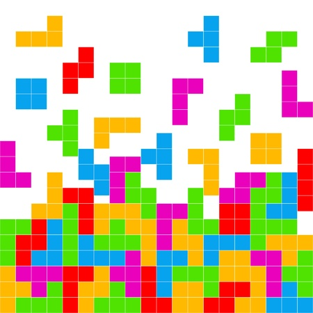 Tetris Game Playing Background photo