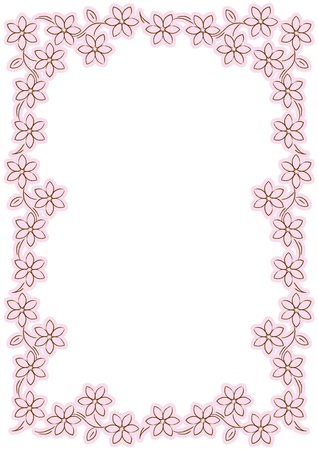 pink flower border  photo