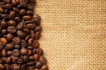 gunny bag: coffee beans on gunny bag