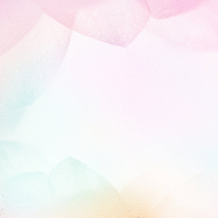 sweet color flower petals in soft color and blur style on mulberry paper texture Stock Photo
