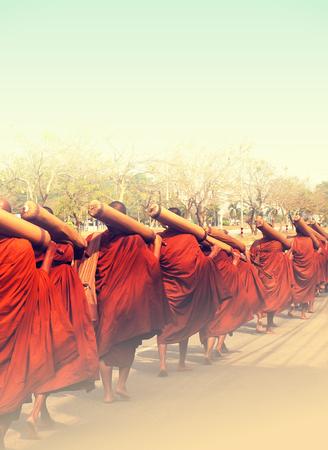 monk on pilgrimage, Thailand