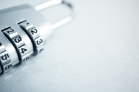 combination: combination padlock in blur style for security concept background Stock Photo