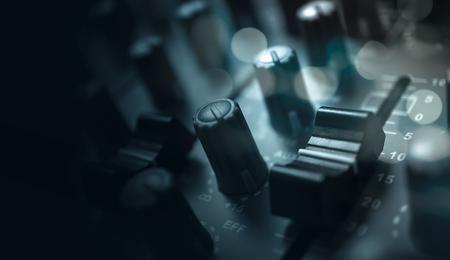 equalize: Audio equalizer Control panel Stock Photo