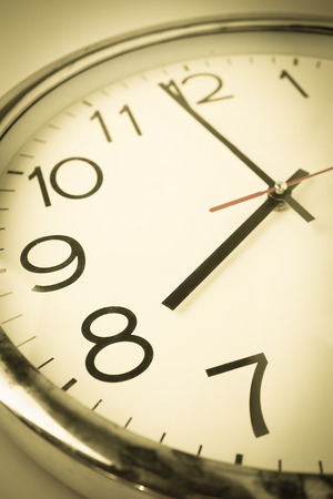 countdown to 8 oclock with vintage color style clock
